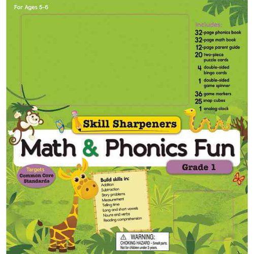 Skill Sharpeners Math and Phonics Fun: Grade 1