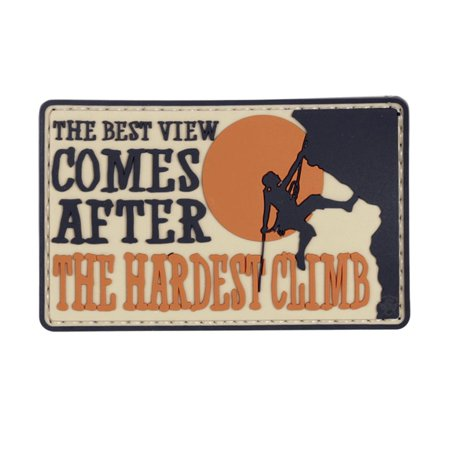 5ive Star Gear Best View Comes After The Hardest Climb PVC Morale Patch, 3