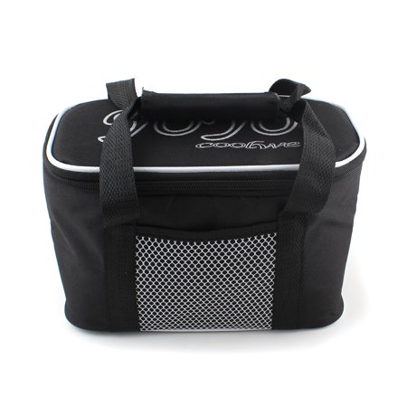 Unbranded Black Portable Waterproof Lunch Bag with Insulated Cooler