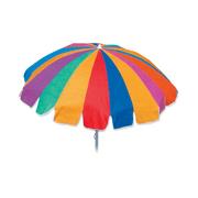 7' Oxford Coated Canopy Beach Umbrella, Silver