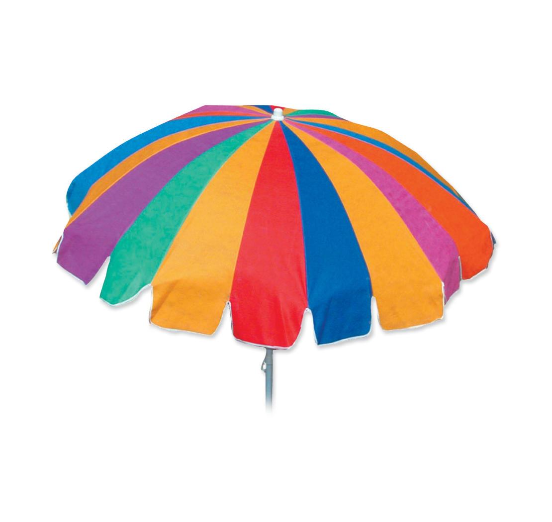 7 FT OXFORD SILER COATED CANOPY BEACH UMBRELLA