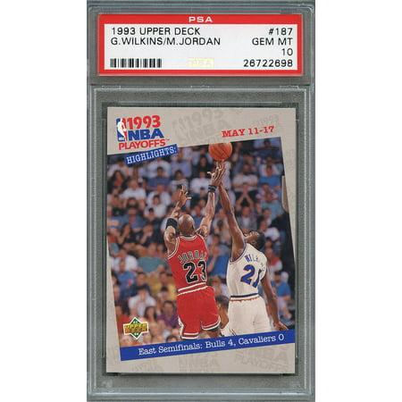 1993-94 upper deck #187 GERALD WILKINS - MICHAEL JORDAN chicago bulls PSA 10 Chicago Bulls 1998 Upper Deck