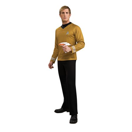 Star Trek Mens Deluxe Captain Kirk Halloween Costume Captain Kirk Uniform