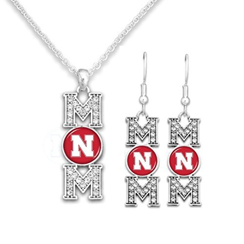 Nebraska Cornhuskers  MOM Earrings and Necklace Set