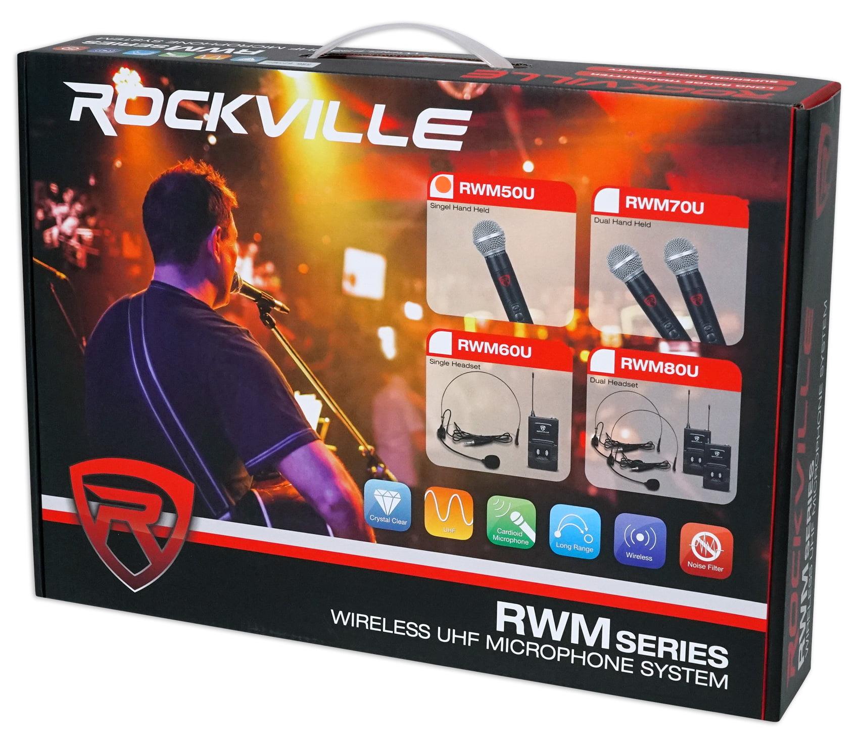 Rockville RWM50U Professional Single UHF Handheld Wireless Microphone System