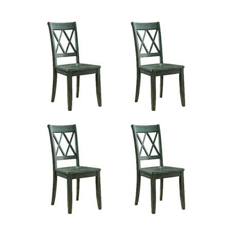Wondrous Mestler Dining Room Side Chair 2 Cn Blue Green 4 Pack Mestler Dining Room Side Chair 2 Cn Blue Green Home Interior And Landscaping Dextoversignezvosmurscom