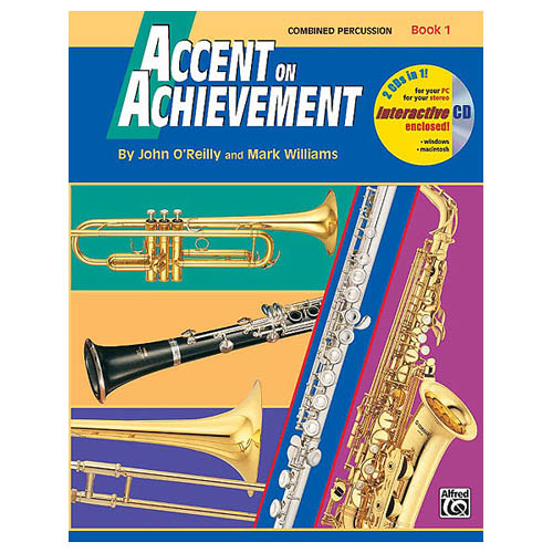 Alfred Accent on Achievement Book 1 Combined PercussionS.D. B.D. Access. & Mallet... by Alfred Publishing