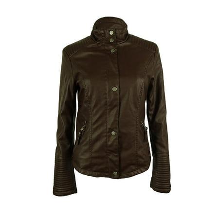 Celebrity Pink Women's Faux Leather Jacket - Walmart.com
