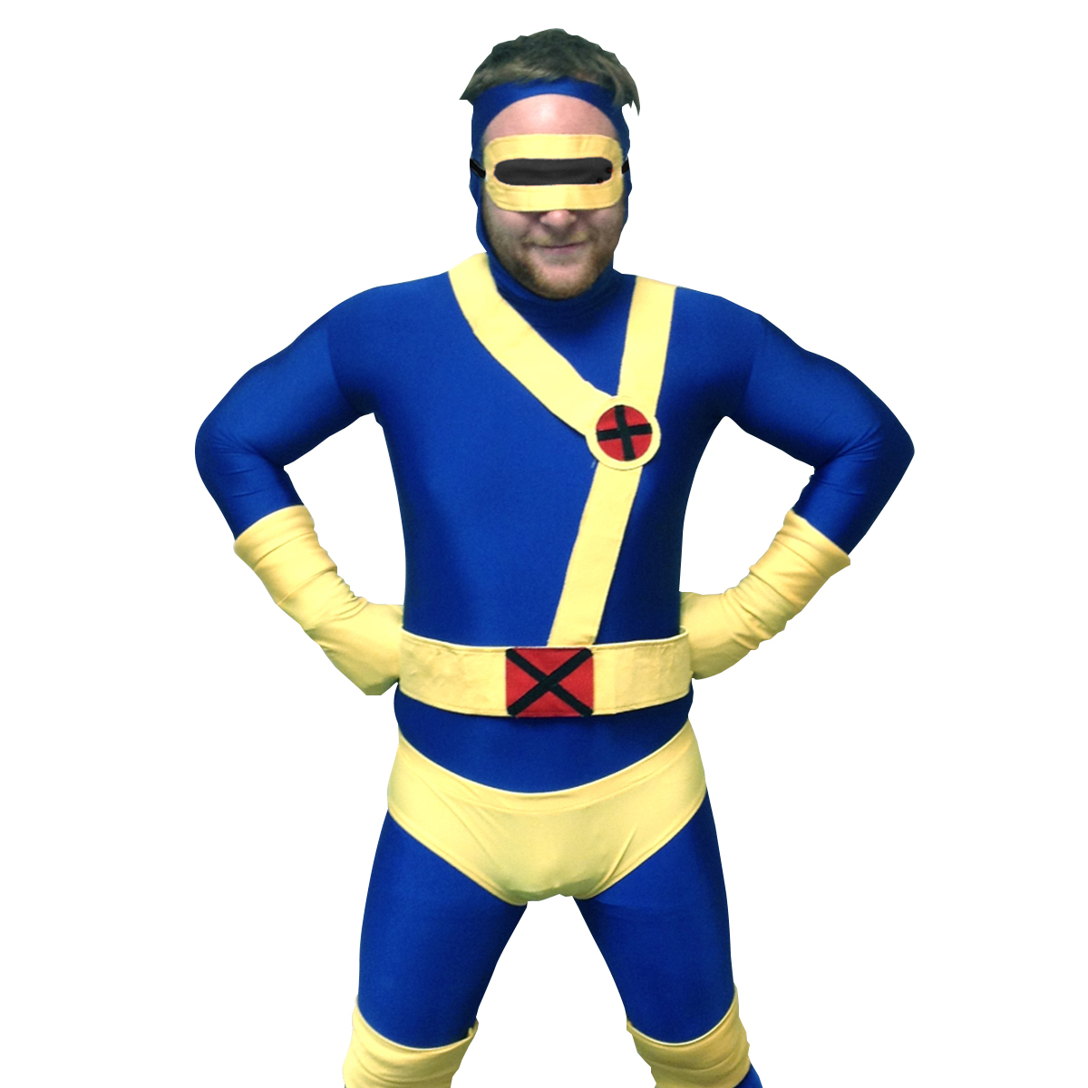 Cyclops Adult Costume Body Suit X-Men Superhero Spandex Body Suit Mens Lycra