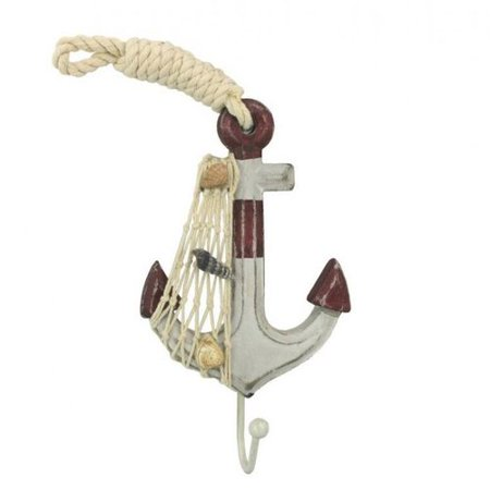 Handcrafted Nautical Decor Anchor Wall D cor with Hook](Anchor Wall)