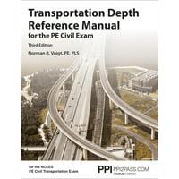 Transportation Depth Reference Manual for the Pe Civil Exam (Paperback)