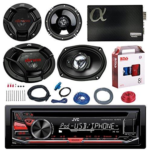 JVC KD-R670 CD/MP3 AM/FM Radio Player Car Receiver Bundle...