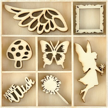 Themed Mini Wooden Flourishes 35/Pkg-Make A Wish - image 1 de 1
