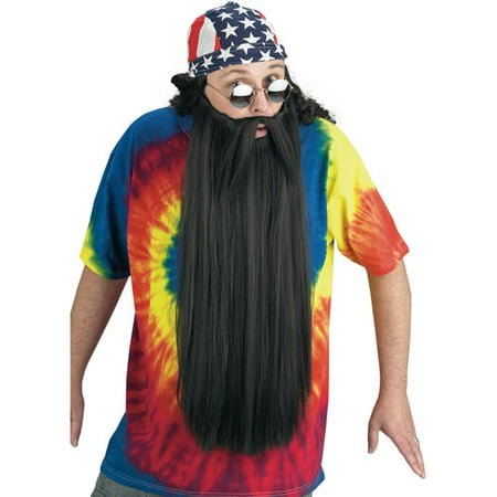 Beard with Mustache Adult Halloween Accessory - Mustache Costume