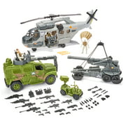 Kid Connection Military Giant Copter Play Set, 57 Pieces