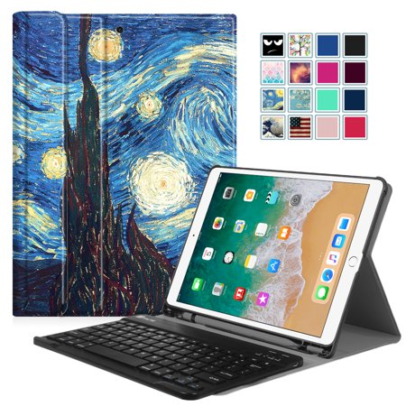 (Fintie 10.5-inch iPad Air (3rd Gen) 2019 / iPad Pro 2017 Keyboard Case Cover with Apple Pencil Holder, Starry Night)