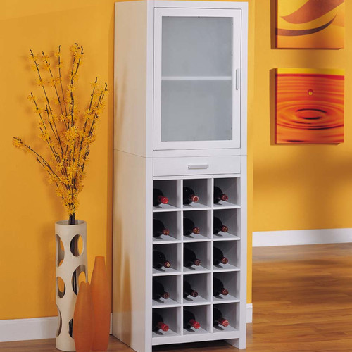 Organize It All Dawn 15 Bottle Floor Wine Cabinet