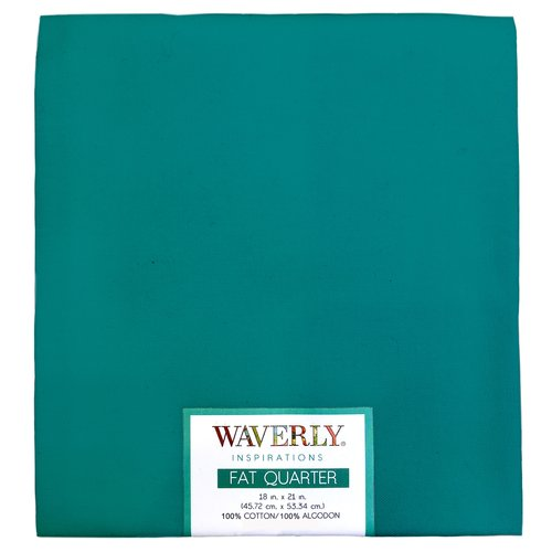 "Waverly Inspiration Fat Quarter PEACOCK 100% Cotton, Solid Fabric, Quilting Fabric, Craft fabric, 18"" by 21"", 140 GSM"
