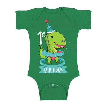 Awkward Styles Jurassic Park Clothes First Birthday Bodysuit Short Sleeve for Newborn Baby Dinosaur Gifts for 1 Year Old Dinosaur Themed Birthday 1st Birthday Outfit for Baby Boys and Baby Girls
