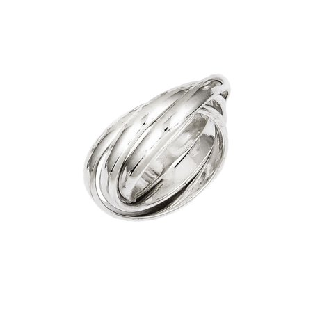 925 Sterling Silver Triple Band Rolling Coil (Triple Band Rolling Ring)