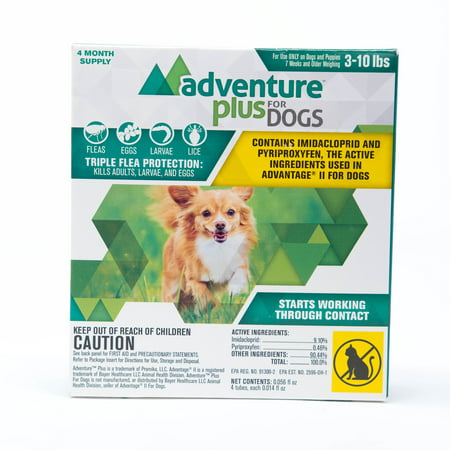 Adventure Plus Flea prevention for Small Dogs, 3-10 lbs. 4 months