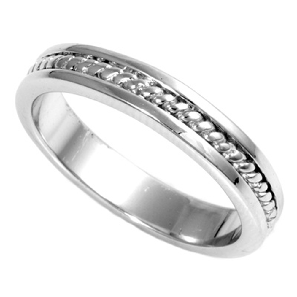 Sterling Silver Women's Mens Spiral Rope Ring ( Sizes 7 8 9 10 11 12 13 14 ) Engagement Wedding Band Rings by Sac Silver (Size 13)
