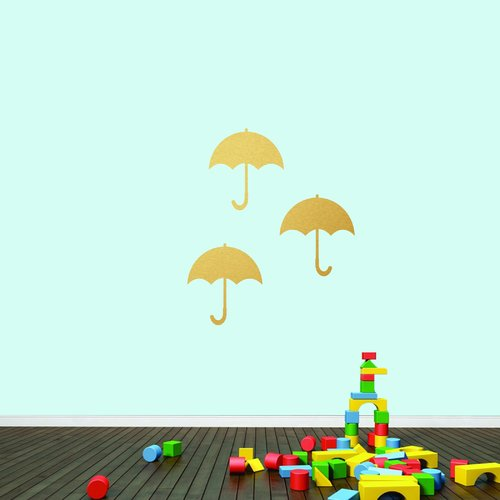 Harriet Bee Set of Umbrellas Wall Decal (Set of 3)