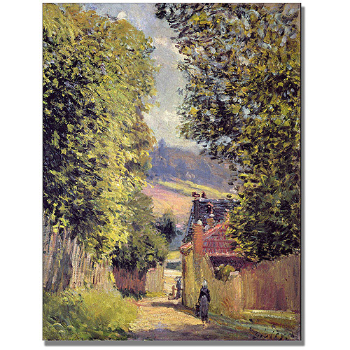 "Trademark Fine Art ""A Road To Louveciennes, 1883"" Canvas Wall Art by Alfred Sisley"