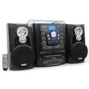 Jensen JMC-1250 BT Turntable with 3 CD Changer and Dual Cassette Deck