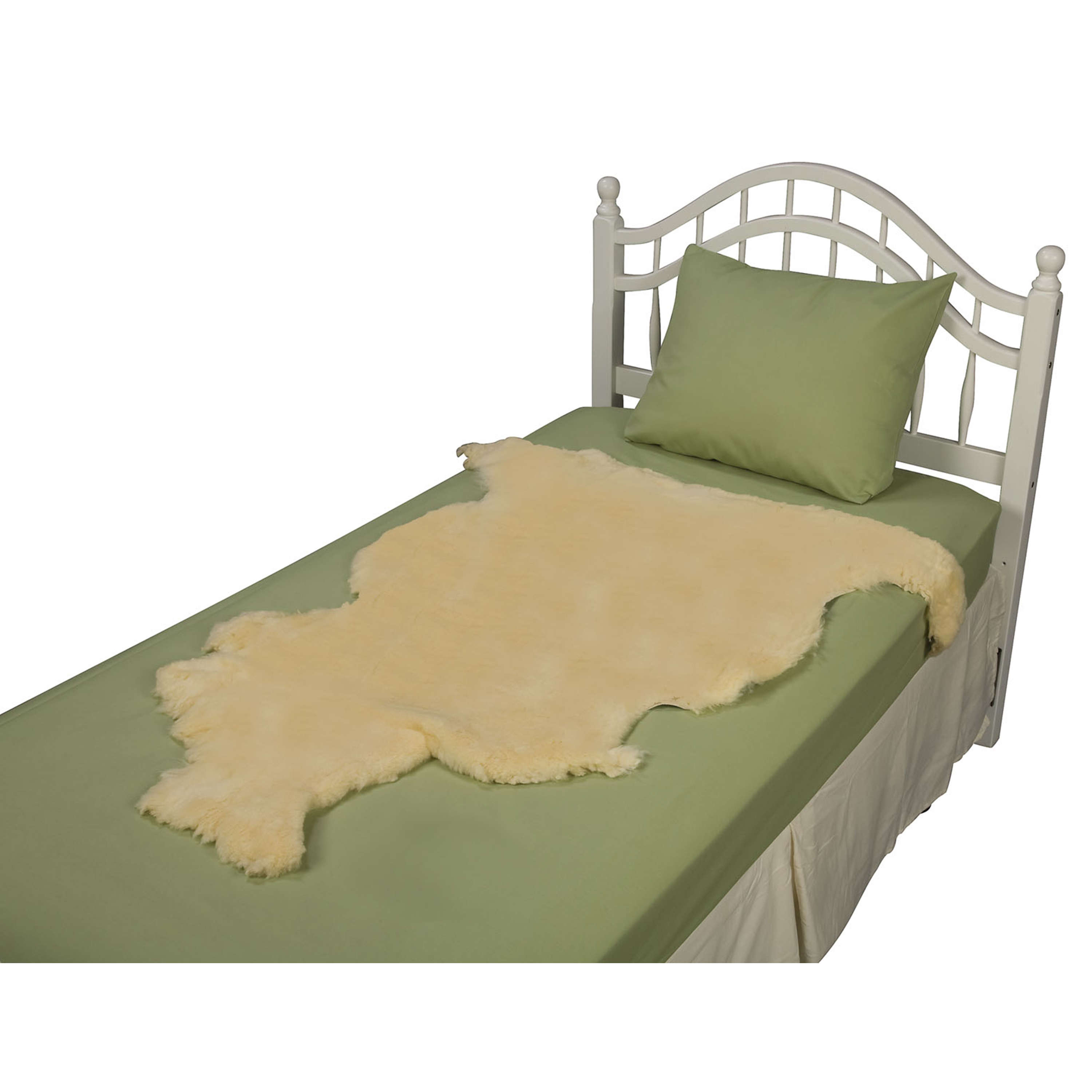DMI Natural Sheepskin Wool Comfort Mattress Bed Pad Bed Mat, Washable, 8 to 9 Square Feet, Beige