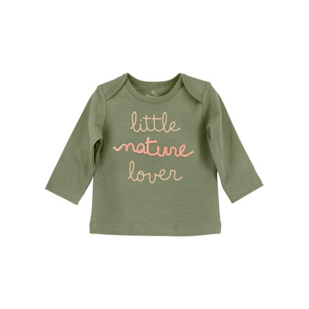 (Green Nature Lover Long Sleeve T-shirt (Baby Girls))