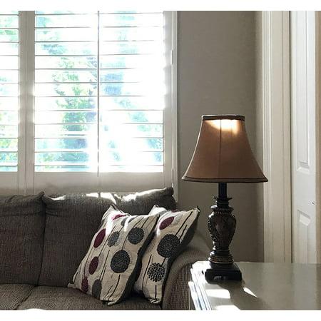 "Set of 2 - 19""H Carved Traditional Accent Table Lamp Bedside Lamps Set (Dark Goldenrod)"