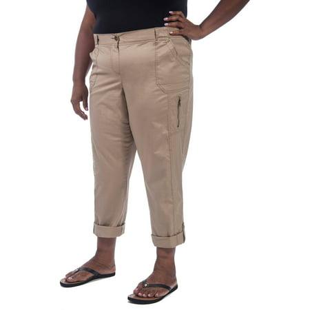 d6a831f0b8e Faded Glory - Women s Plus-Size Cargo Convertible Pant - Walmart.com