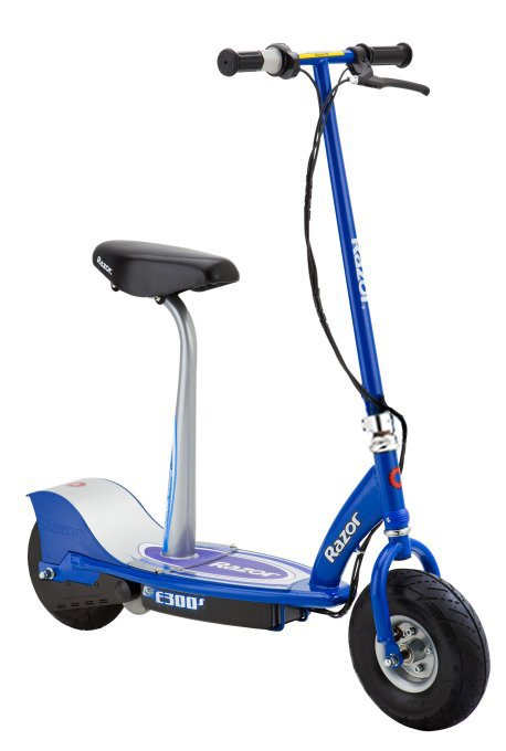 Razor E300S Kids Rechargeable Cushioned Seat Electric Motorized Scooter, Blue by Razor