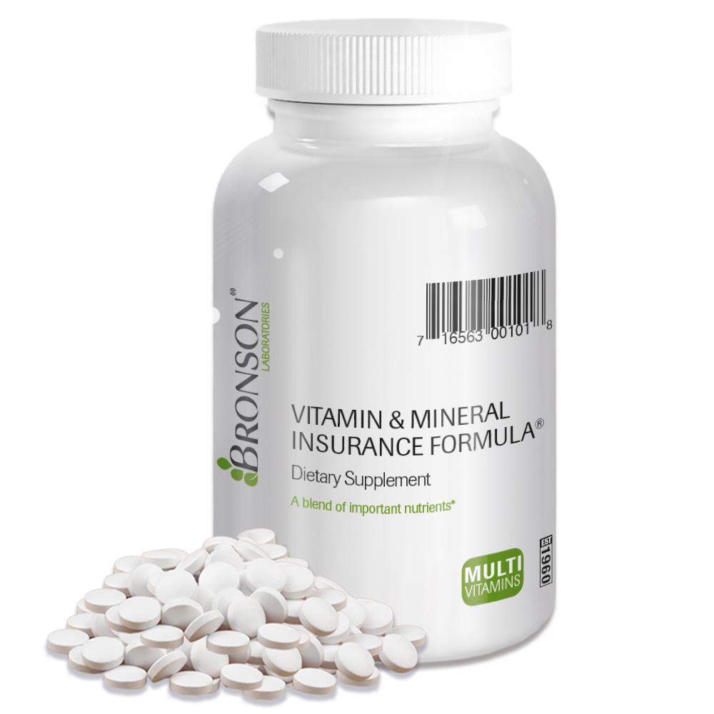 Bronson Vitamin & Mineral Insurance Formula, 100 Tablets