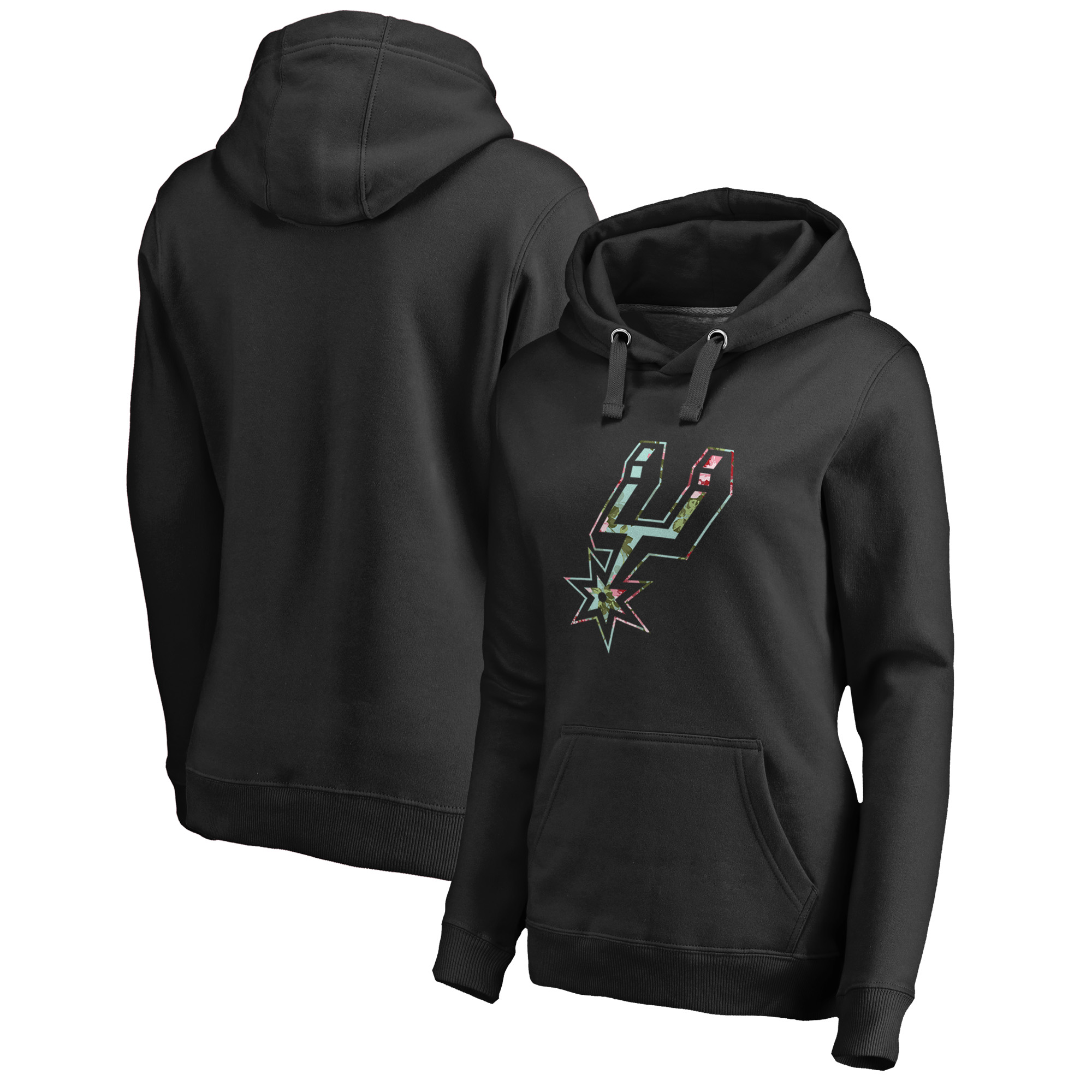 San Antonio Spurs Fanatics Branded Women's Lovely Pullover Hoodie - Black