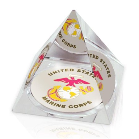 Paragon Innovations Company USMPYR2 MIL US Marines Crystal Pyramid