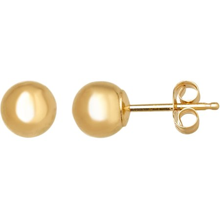14kt Yellow Gold 5mm Ball Stud Earrings (Marc Jacobs Gold Stud Earrings)