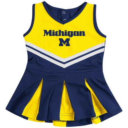 Michigan Wolverines Colosseum Girls Infant Pom Pom Cheer Set - Navy/Maize](Wolverine Outfits)