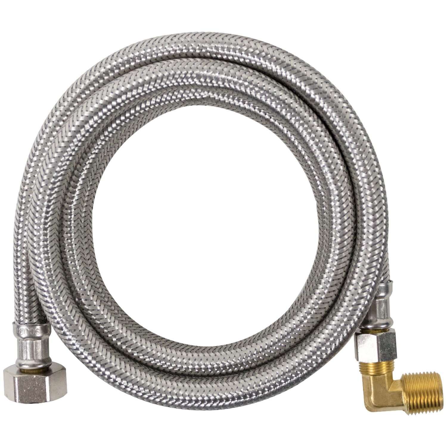 Certified Appliance DW4812SSBL Braided Stainless Steel Dishwasher Connector with Elbow, 4'