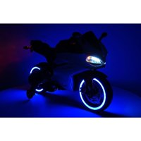 2017 Racing Style Ride On Car Motorcycle Toy for Kids 12V Powered  Blue
