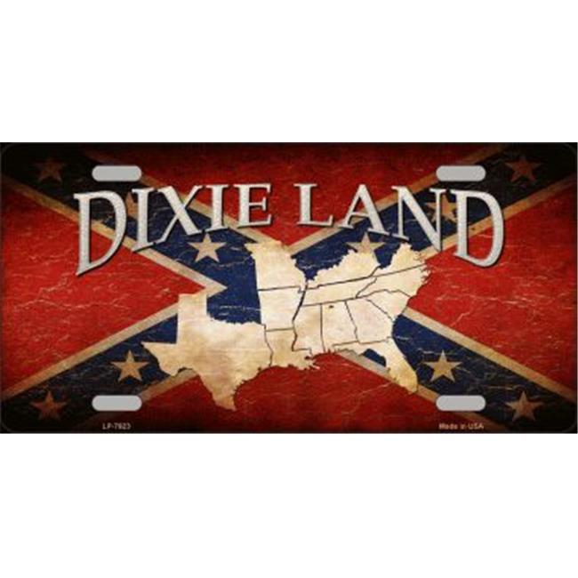 Smart Blonde LP-7923 Dixie Land Novelty Metal License Plate