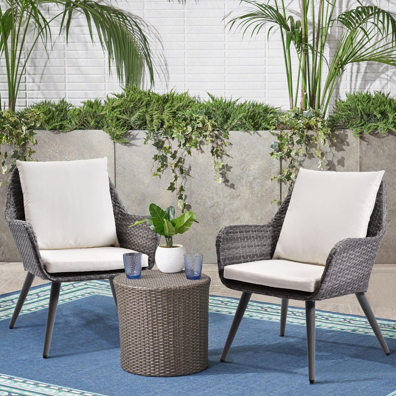 Outdoor Patio Wicker Sofa, Weather Resistant&Water proof ... on Patio Living Room Set id=28503