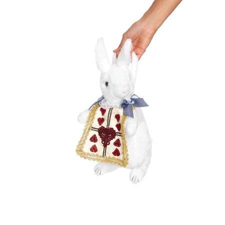 Leg Avenue Rabbit Purse Costume Accessory, White/Gold, One Size