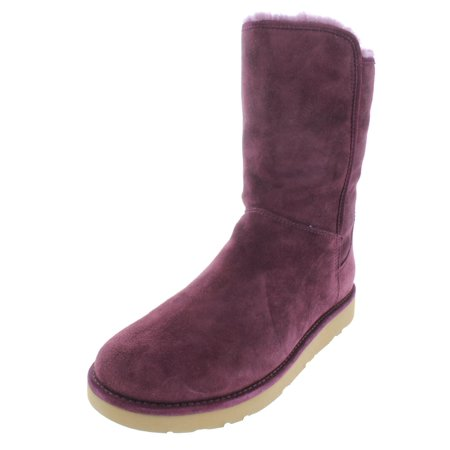 Ugg Womens Abree Short II Suede Casual Boots Purple 6 Medium (B,M) ()