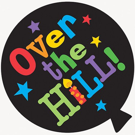 over the hill paper cut outs 8pk walmart com
