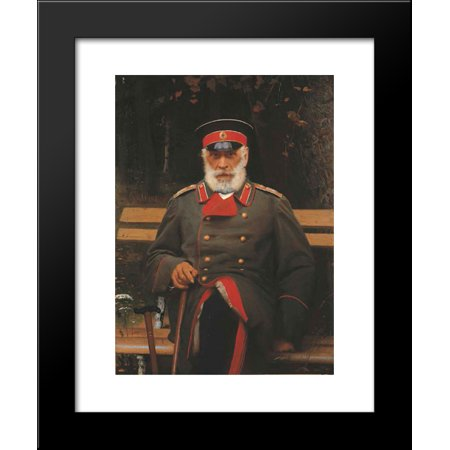 Portrait Of Admiral Login Loginovich Heyden 20X24 Framed Art Print By Ivan Kramskoy