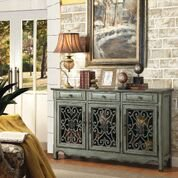 Clover 3-Door Accent Cabinet Antique Green - Walmart.com - Walmart.com