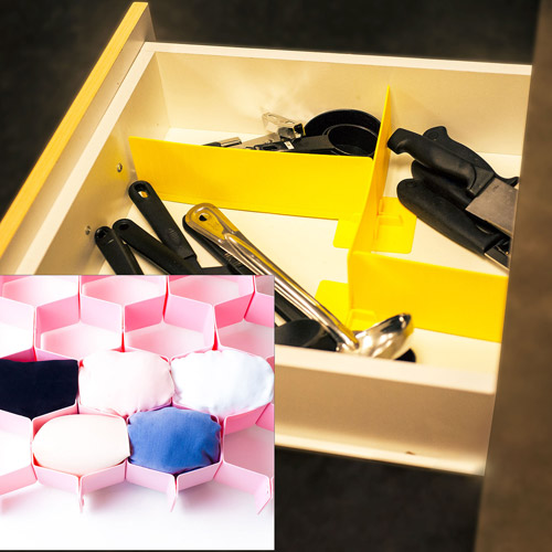 15-Piece Kitchen Utility Drawer Organizer Set