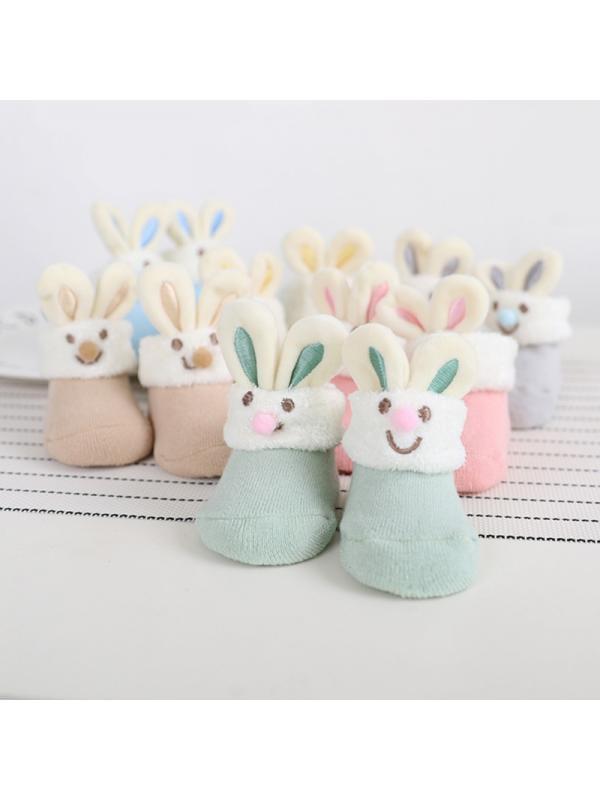 SunshineLLC Baby Indoor Floor Warm Sock Toddler Boot Knit Shoes Rabbit Pattern 1-4 Y